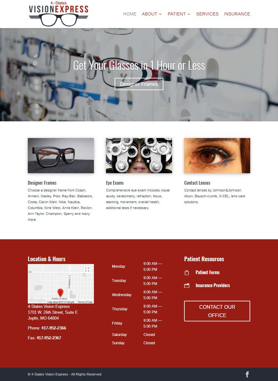Website - 4 States Vision Express