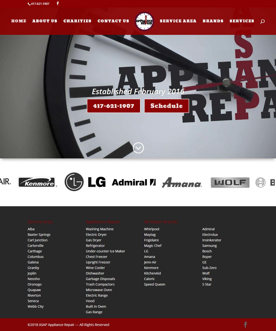 Website ASAP Appliance